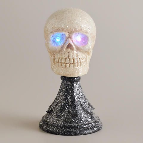 Skull on Stand Decor | World Market