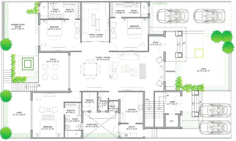 Epingle Sur Maison Plain Pied Plan