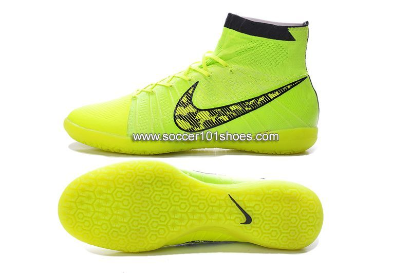 71ebedbea Nike Generic Mens Elastico Superfly Indoor IC Soccer Shoes Hi Top Football  Boots Fluorescent Yellow  73.00