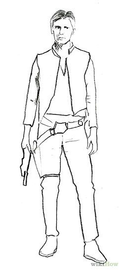 Draw Han Solo from Star Wars | Soloing, Star and Drawings