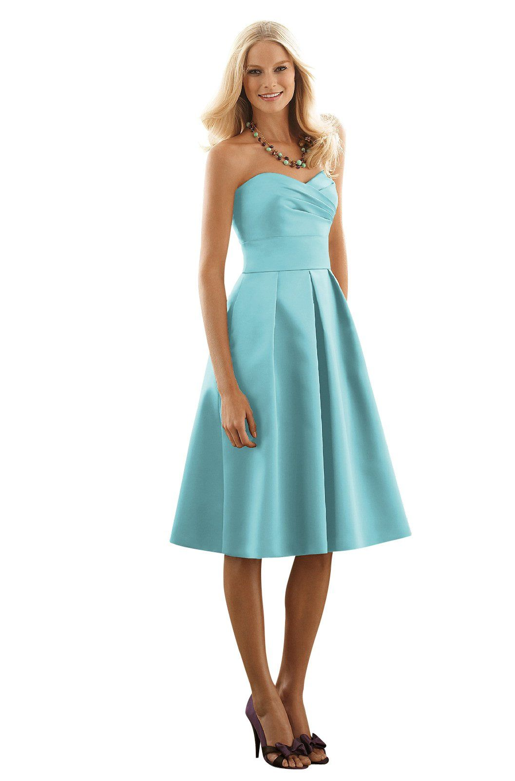 This ocean blue bridesmaid dress is beautiful but for my weddding i