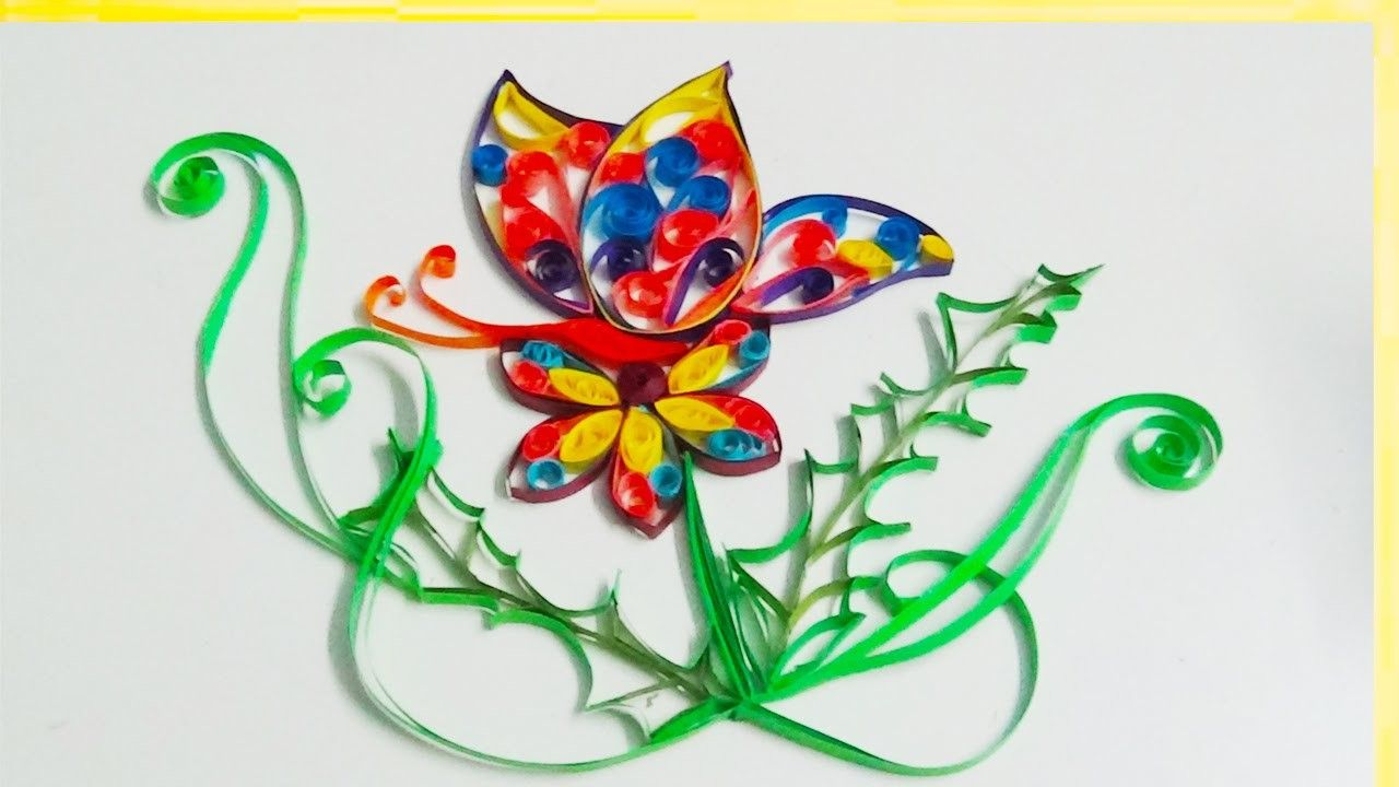 Paper Quilling How To Make A Beautiful Flower Design By Using