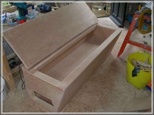 Tool Box Seat For Your Van Camper Awnings Wood Tool Box