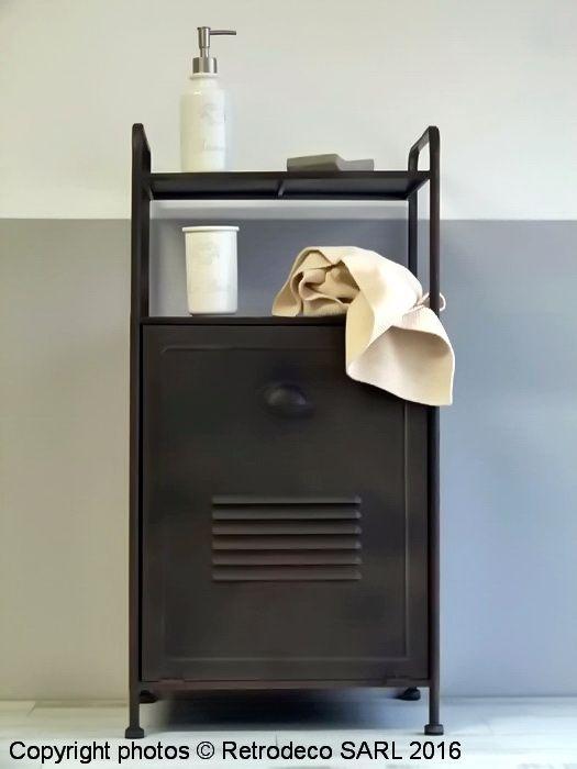 Meuble de salle de bains factory et bac à linge, Ib laursen - meuble salle de bain panier a linge