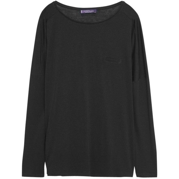 Violeta by Mango Basic T-Shirt , Medium Grey (2.590 RUB) via Polyvore featuring tops, t-shirts, medium grey, long sleeve tee, plus size long sleeve t shirts, jersey t shirts, long sleeve tops и long sleeve jersey tee