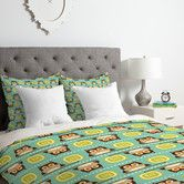 Found it at Wayfair.ca - Heather Dutton Owl Town Teal Duvet Cover Set