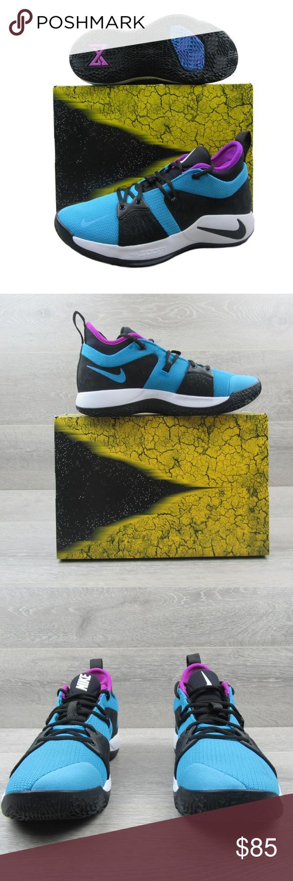 buy popular bee3b ef7ba Nike PG 2 Blue Lagoon Paul George Basketball Shoes PRICE IS ...