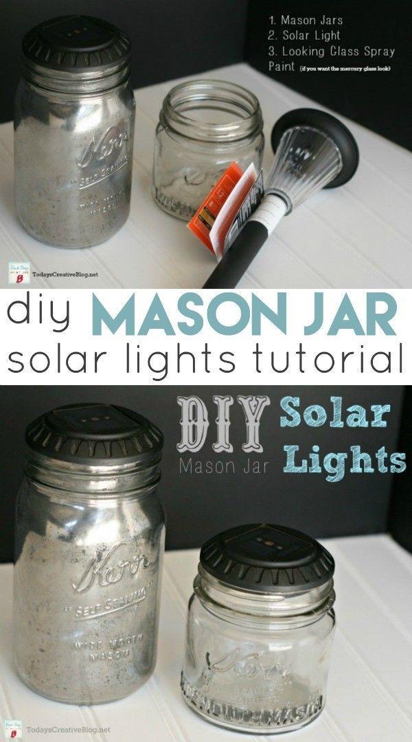 Diy Mason Jar Solar Lights Mason Jar Solar Lights Mason Jar Crafts Diy Mason Jar Crafts