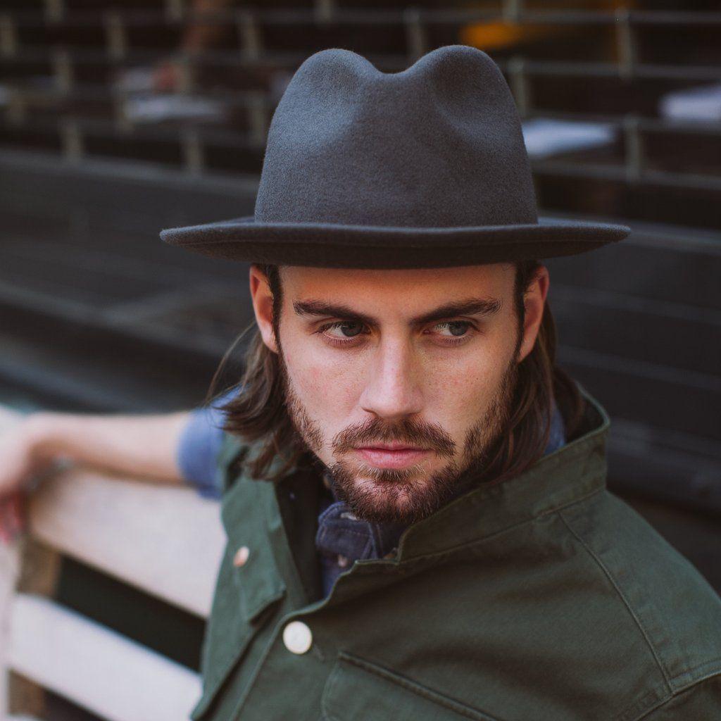 3b9c78f2745813 Luke Fedora - Grey – Yellow 108   Sustainable Headwear + Accessories Grey – Yellow  108