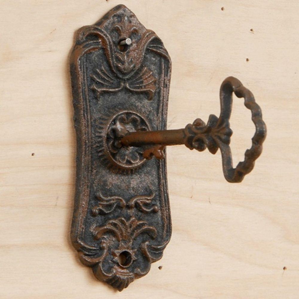 Metal Iron Victorian Skeleton Keys With Lock Keyhole Rustic Antique Wall Decor