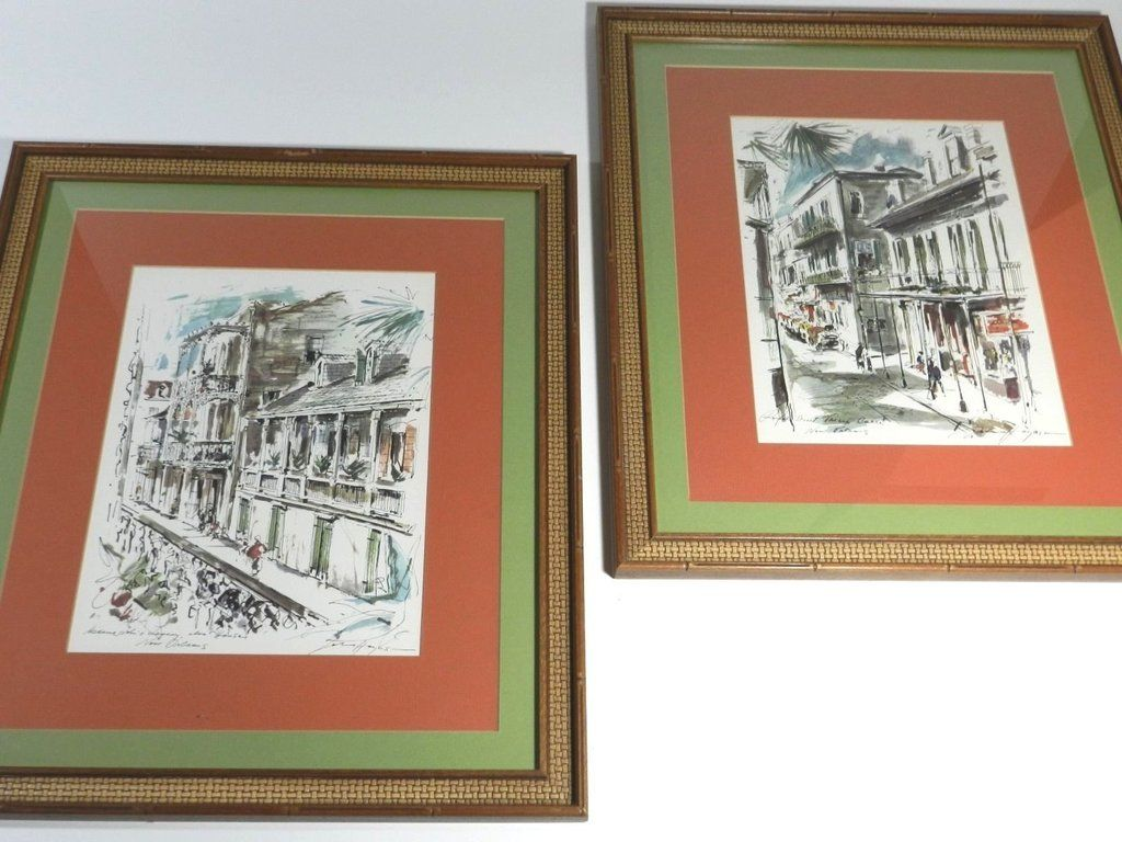 John Haymson New Orleans Signed Watercolor Framed | Watercolor and House