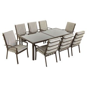 Del Terra Aluminium 8 Person Dining Set