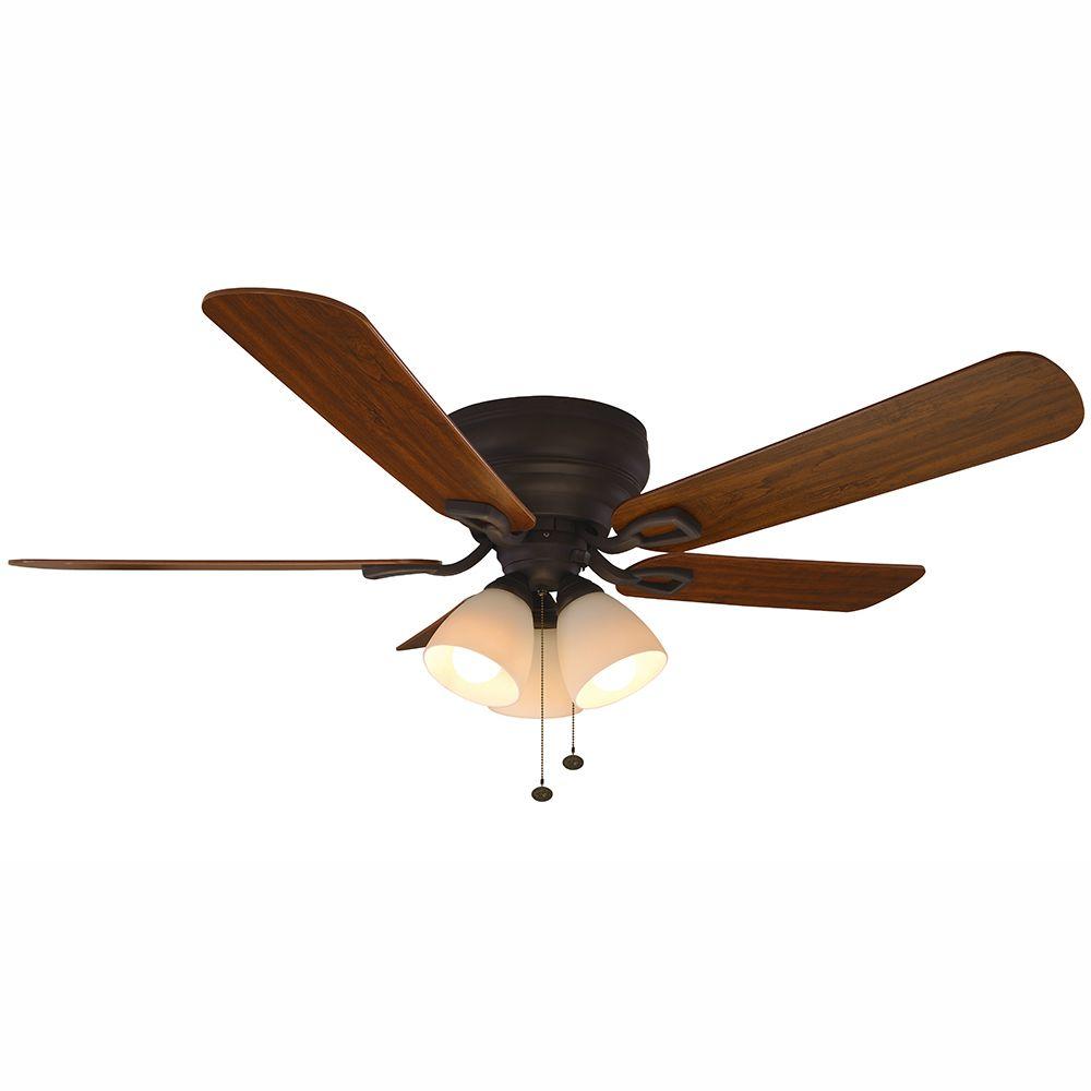 hampton bay blair 52 in led indoor oil rubbed bronze ceiling fan rh pinterest com