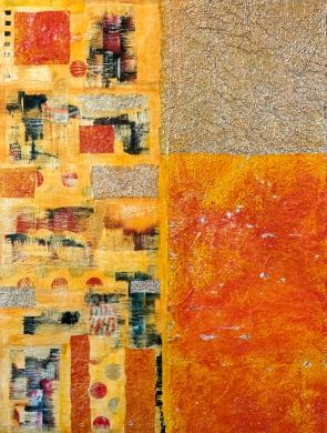 Abstract-Smart - Mixed media #abstract painting by Anyes Galleani