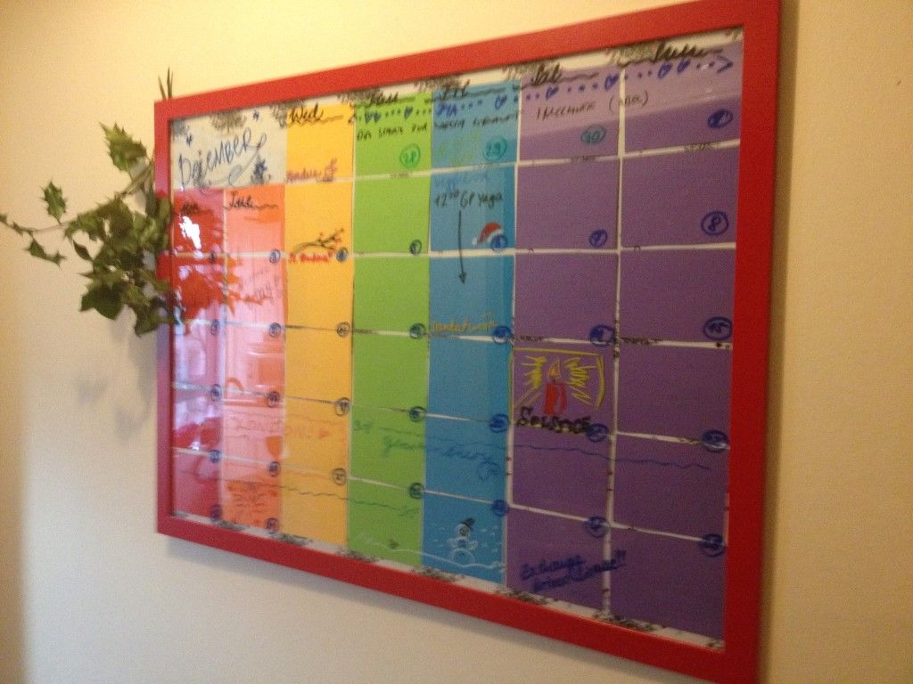 Diy wall planner all you need is a large picture frame for Picture frames organized on walls