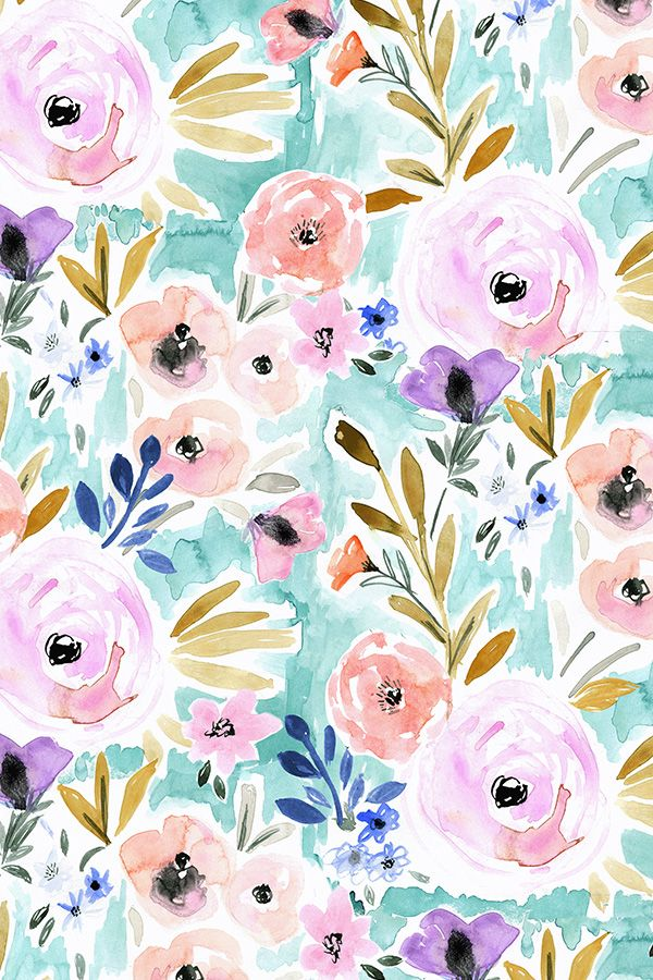 Colorful Fabrics Digitally Printed By Spoonflower Willow Floral