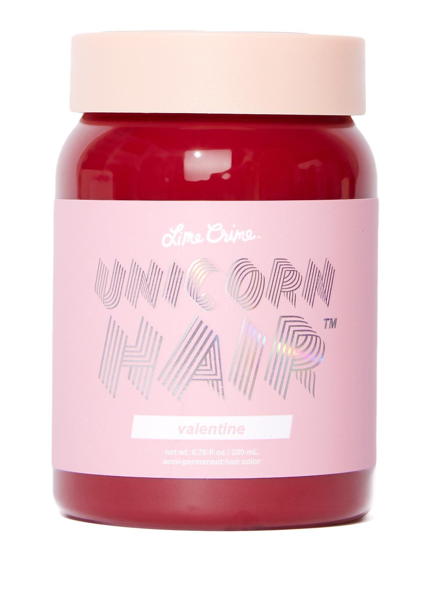 Lime Crime Valentine Unicorn Hair Dye | Dolls Kill in 2020 | Unicorn hair dye, Unicorn hair ...