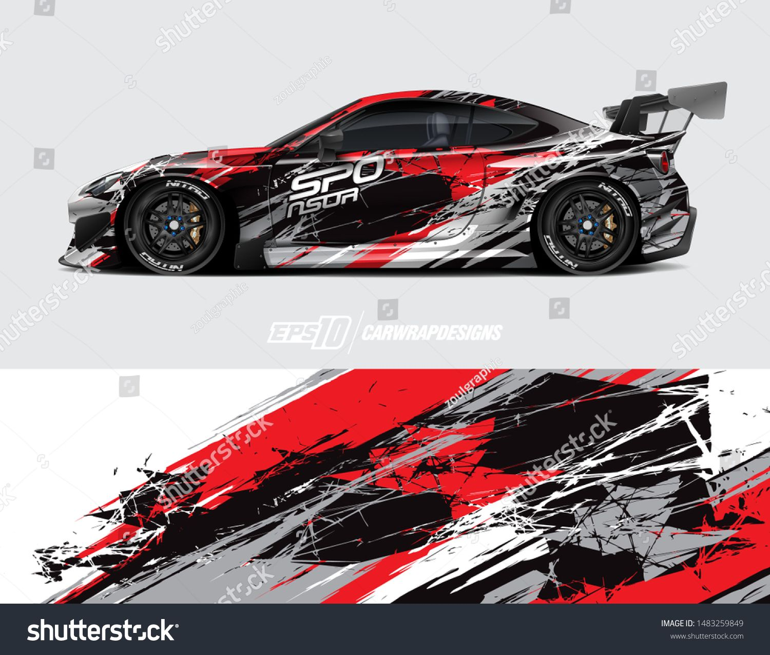 Car Graphic Design Concept Graphic Abstract Grunge Stripe Designs For Wrapping Vehicles Race Car Cargo V Concept Design Car Sticker Design Car Design Sketch