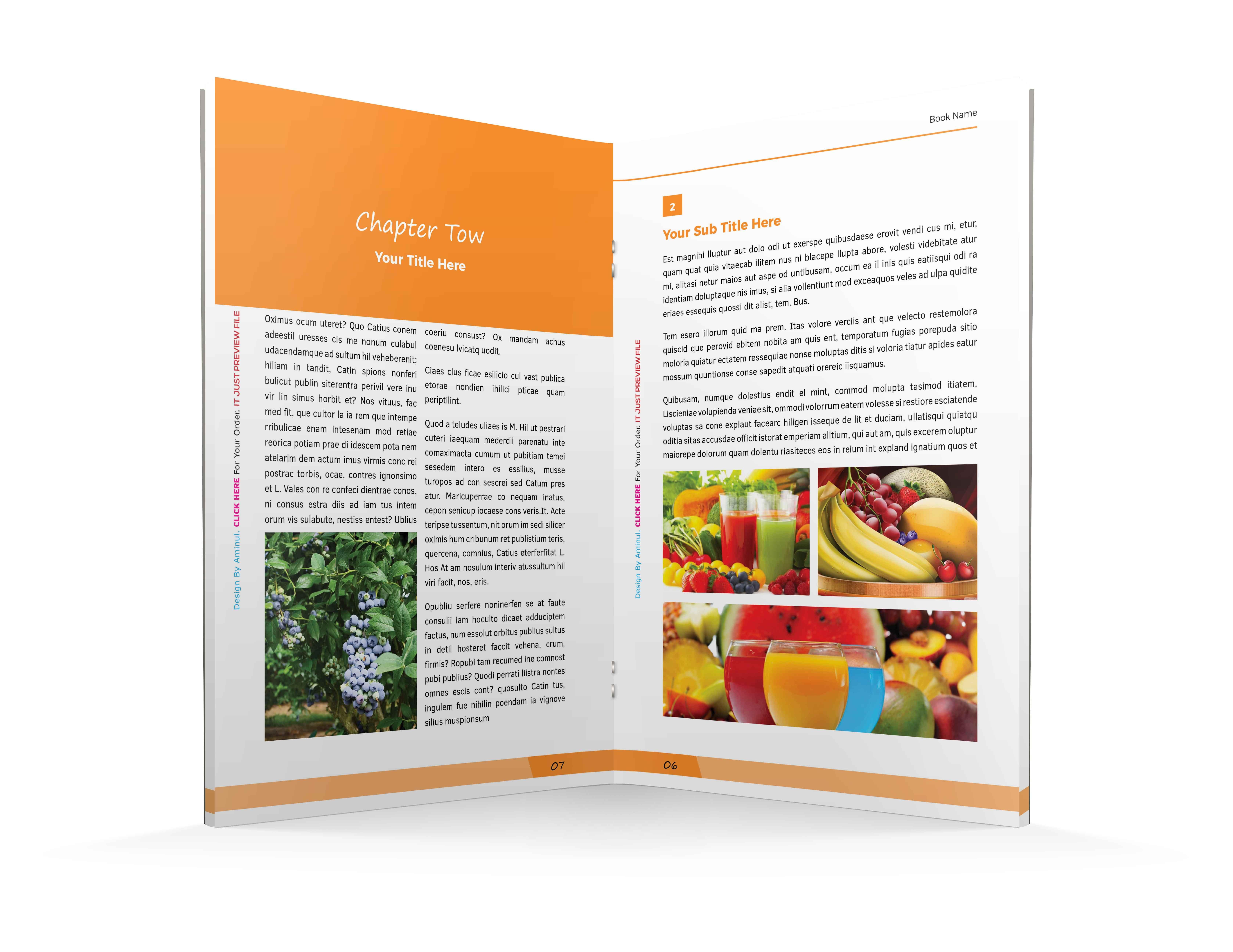 aminulv I will design pdf ebook interior layout design with cover