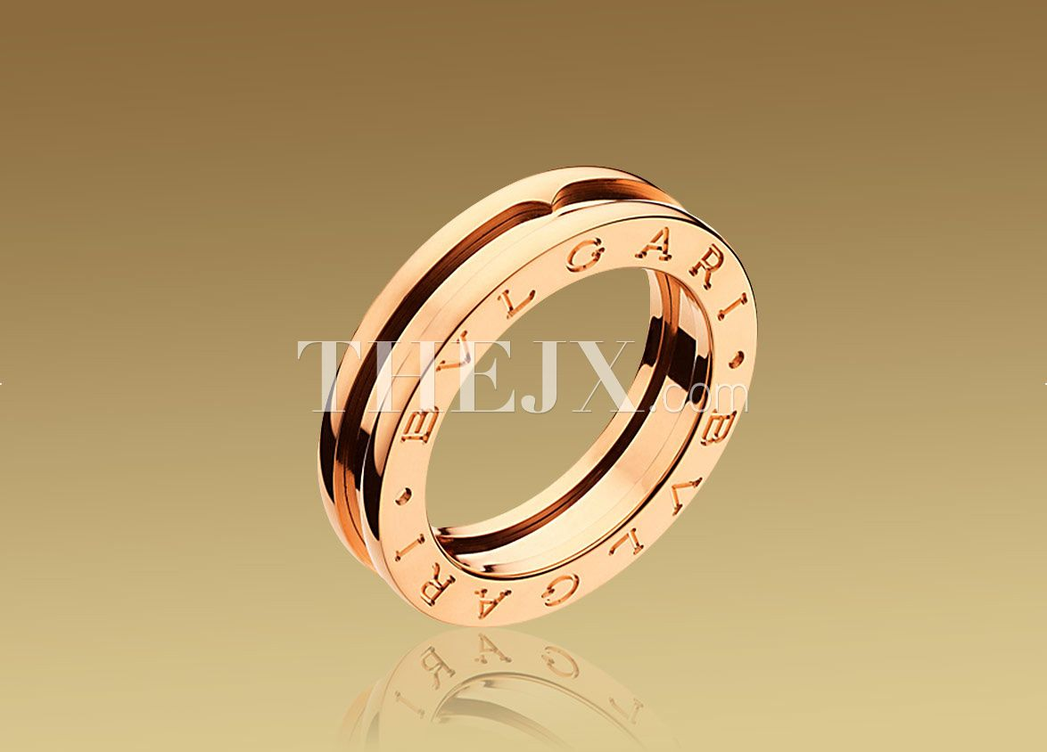 ee2ac4ad785 Replica Bvlgari Classic 1-Band Ring In 18kt Pink Gold 1 1 High Quality
