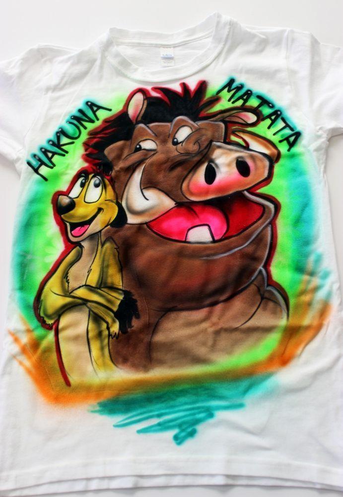 Lion King hakuna matata Airbrush tshirt - Childrens Disney personalized shirt #Anvil #PersonalizedTee