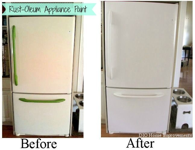 Painting an Appliance | Refrigerator, Kitchens and Painting appliances
