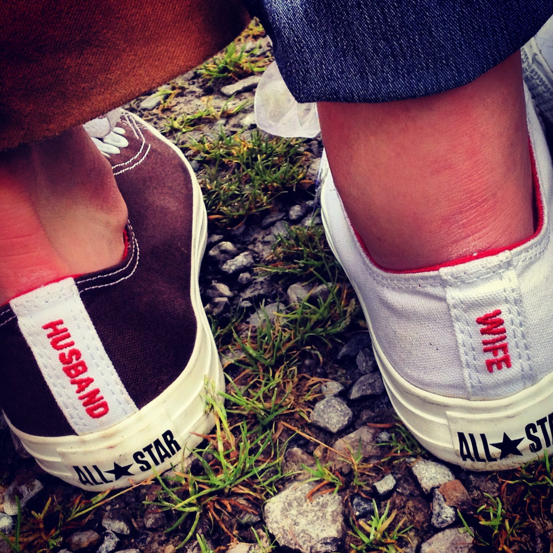 Amazing personalised wedding converse from converse.com maybe with air Jordan's instead