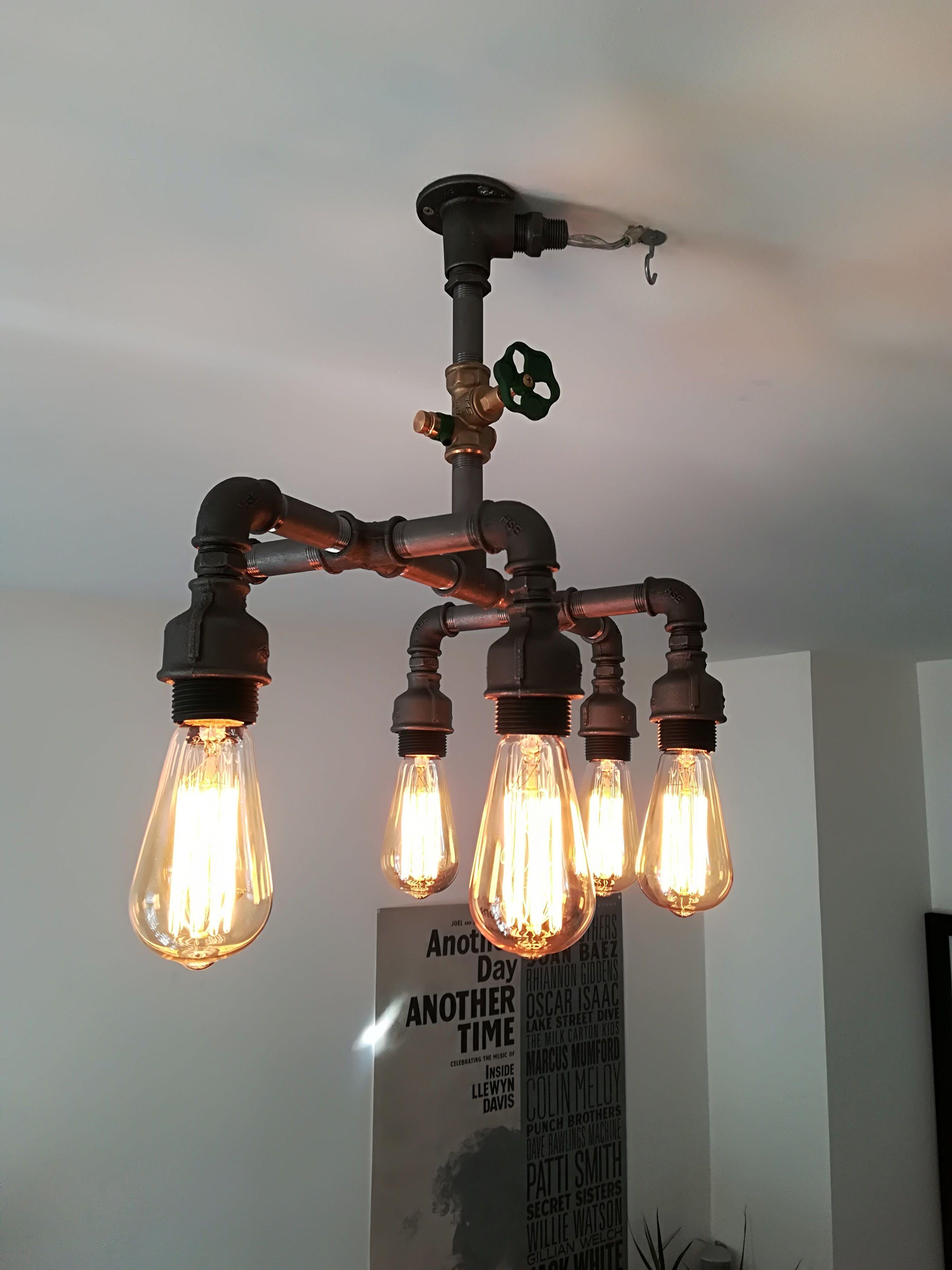 Deckenleuchter 6 Fach Ceiling Lamp 6x Ceiling Lamp Lamp Steampunk Lamp