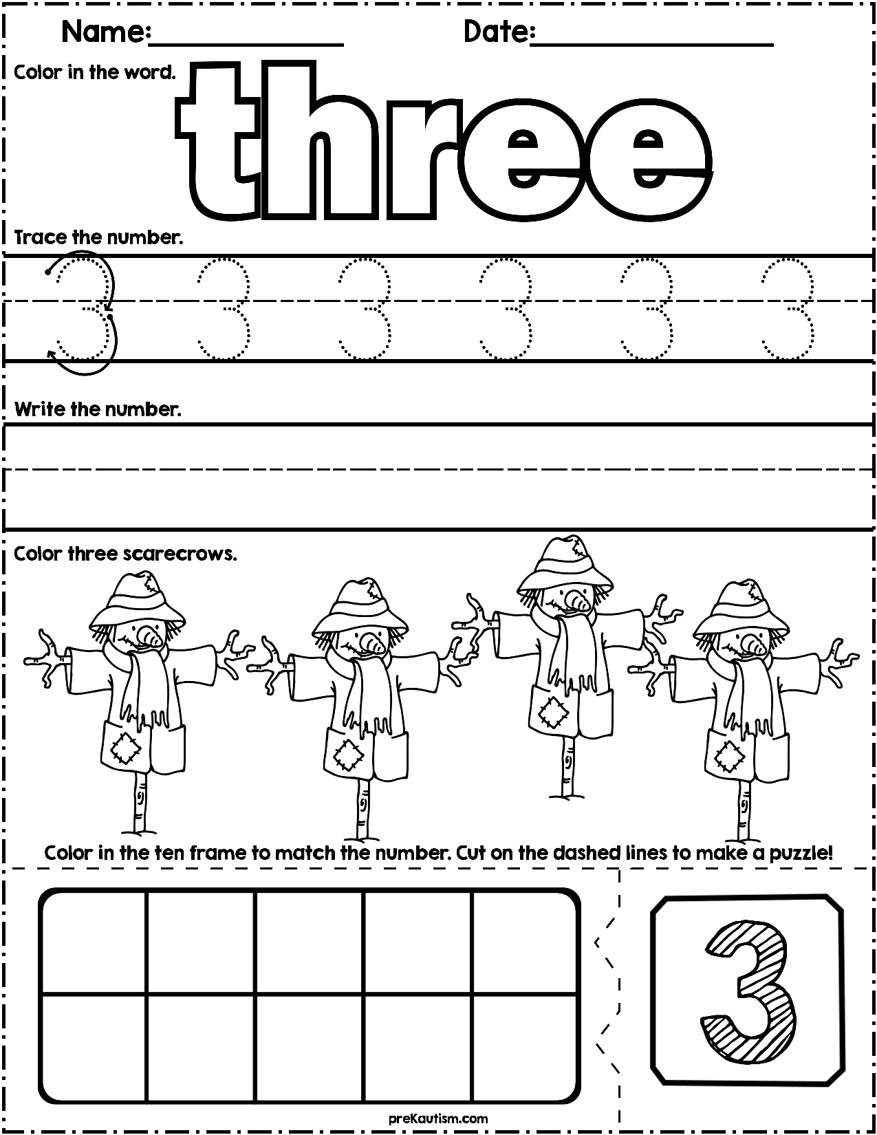 Farm Count Amp Write Math Worksheets