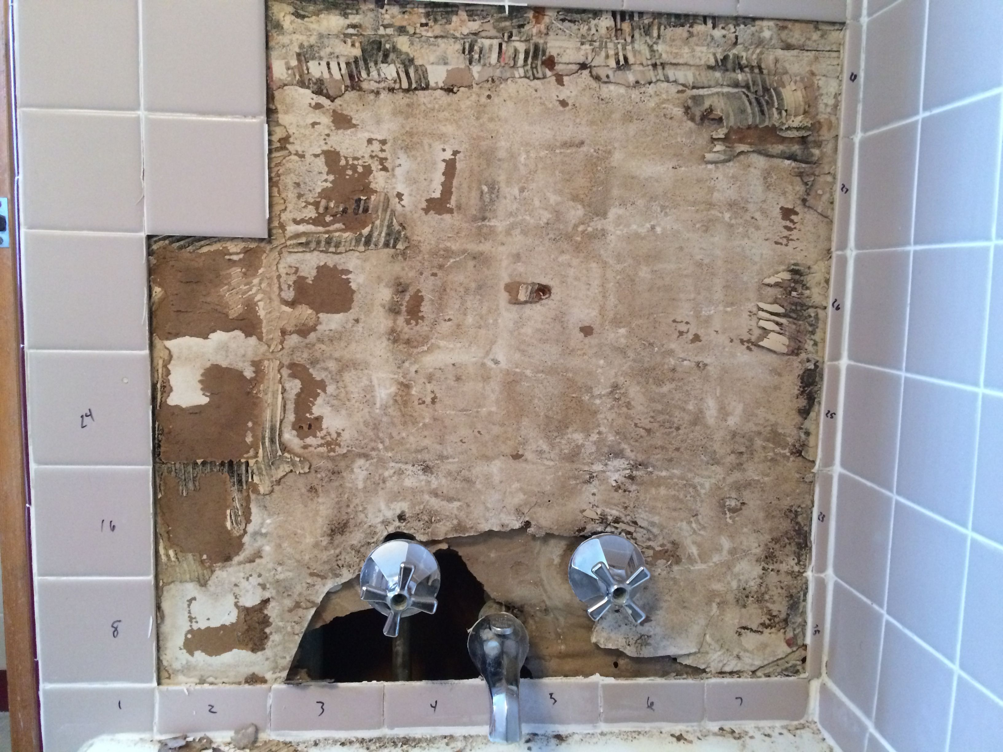 rotted drywall bathroom tile designs