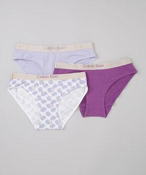 Love this Lavender Underwear Set - Girls by Calvin Klein Underwear on #zulily! #zulilyfinds
