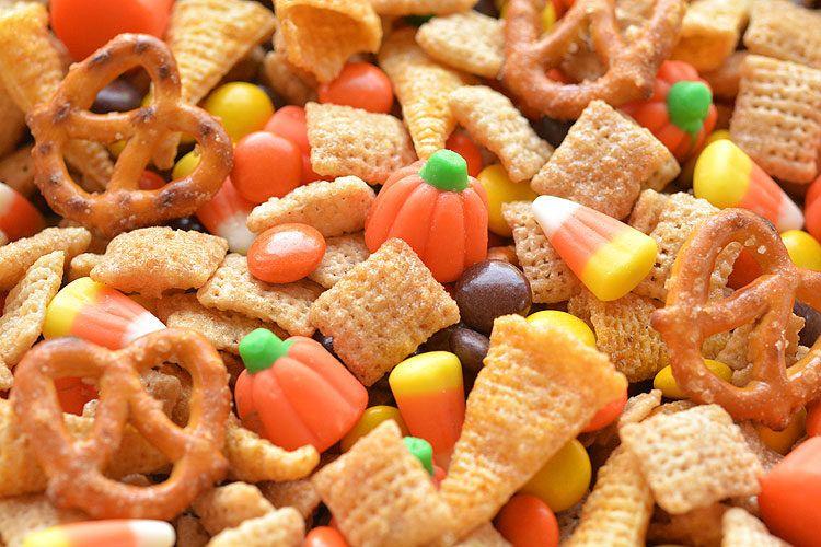 Halloween Harvest Hash Chex Mix Recipe Halloween Party Food