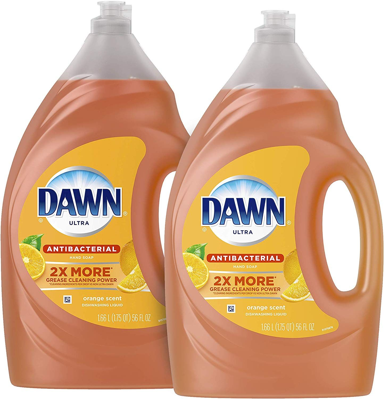 Dawn Antibacterial Dishwashing Liquid Dish Soap Orange Scent 56