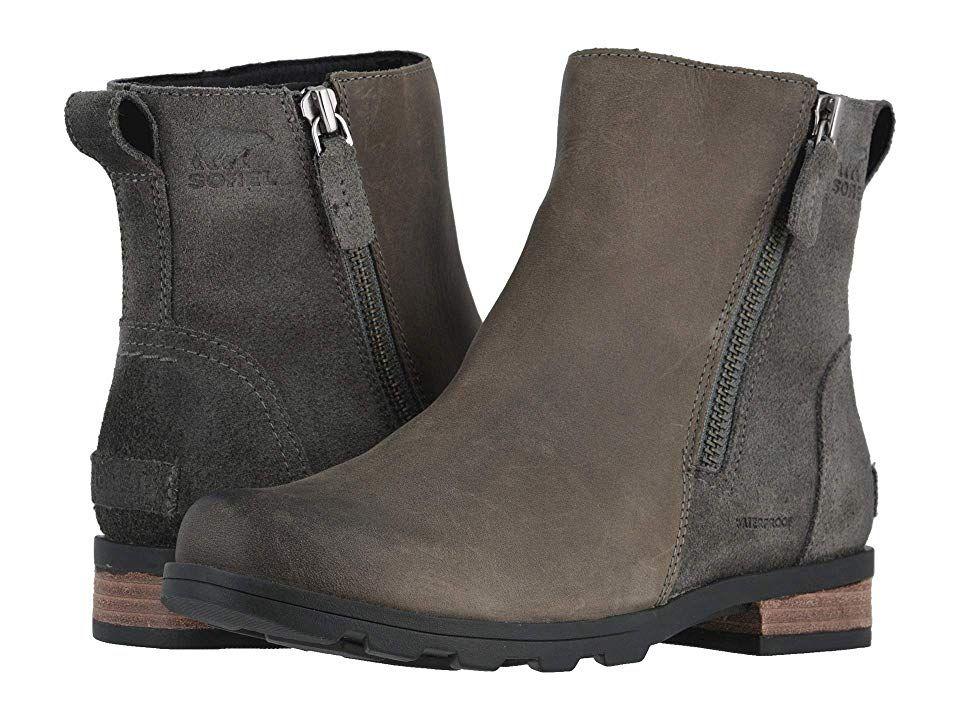 Sorel Emelietm Zip Bootie Women S Dress Zip Boots Quarry
