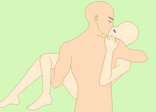 kissing base | Anime Couple Base Kissing Carry and kiss base by