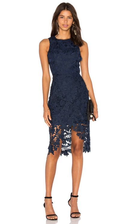 1d2e7bf30c0e keepsake Say My Name Lace Dress in Navy