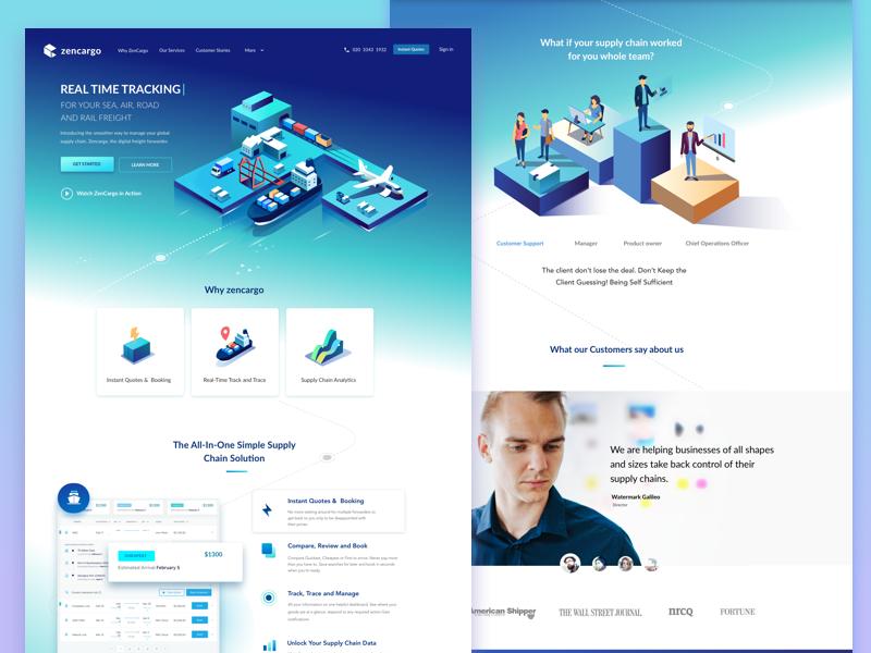 Marketing Landing Page Landing Page Web Design Clean Web Design