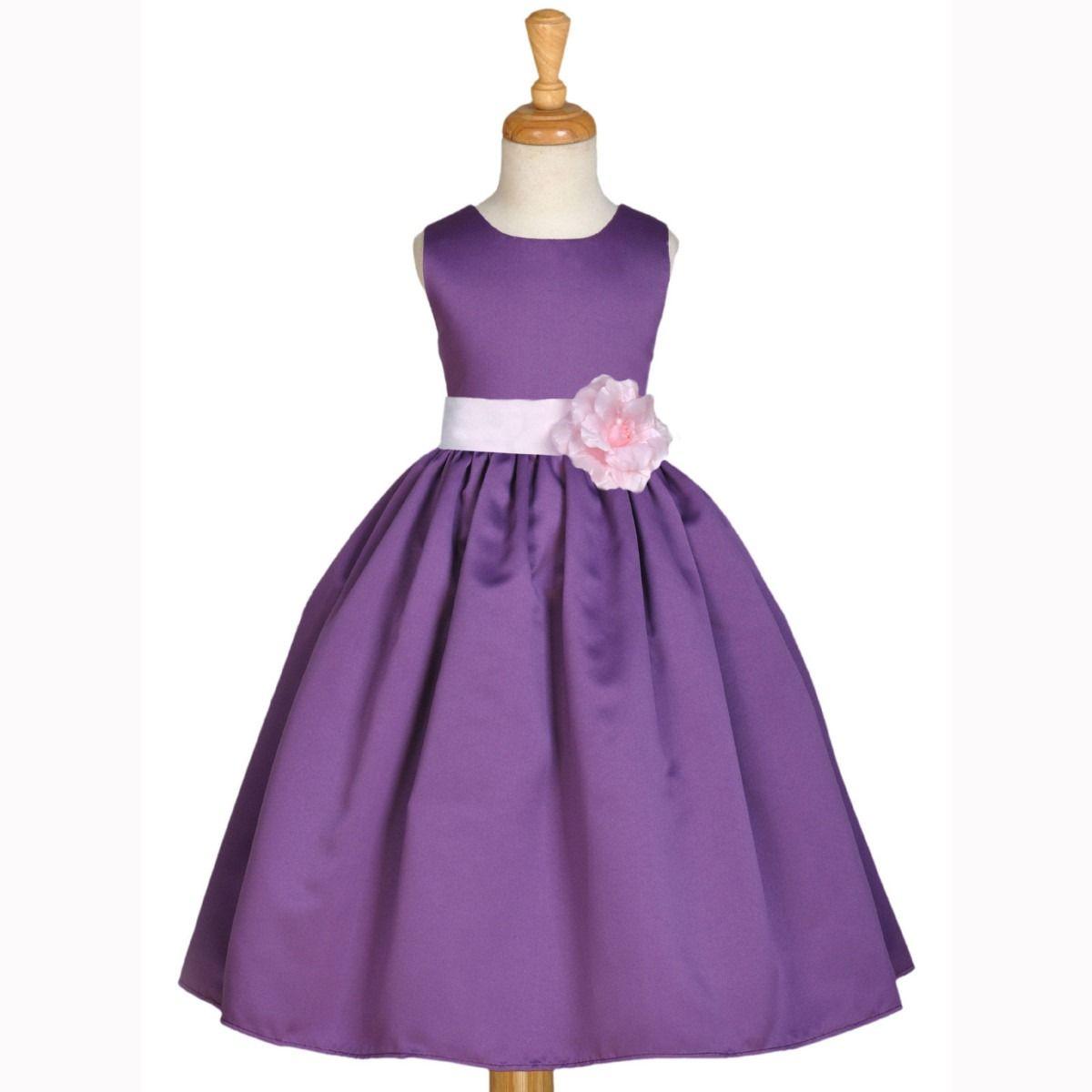 Vestidos de fiesta para ninas color violeta