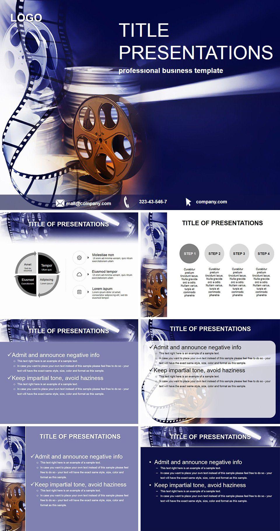 film production website template