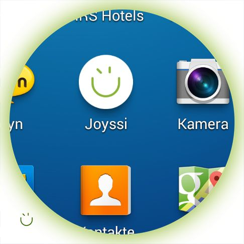 Our JOYSSI moment. Experiencing the first test version of the JOYSSI app on a smartphone.  #joyssiapp #firsttime #joyssi