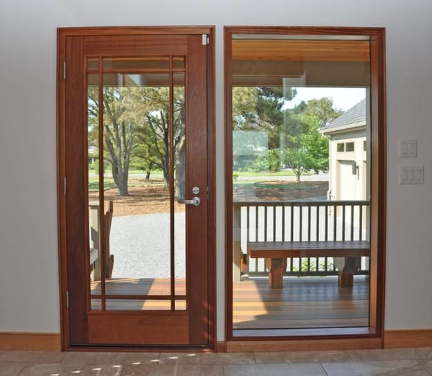 9 Light Prairie Panel Full Glass Entry Door Full Glass Exterior