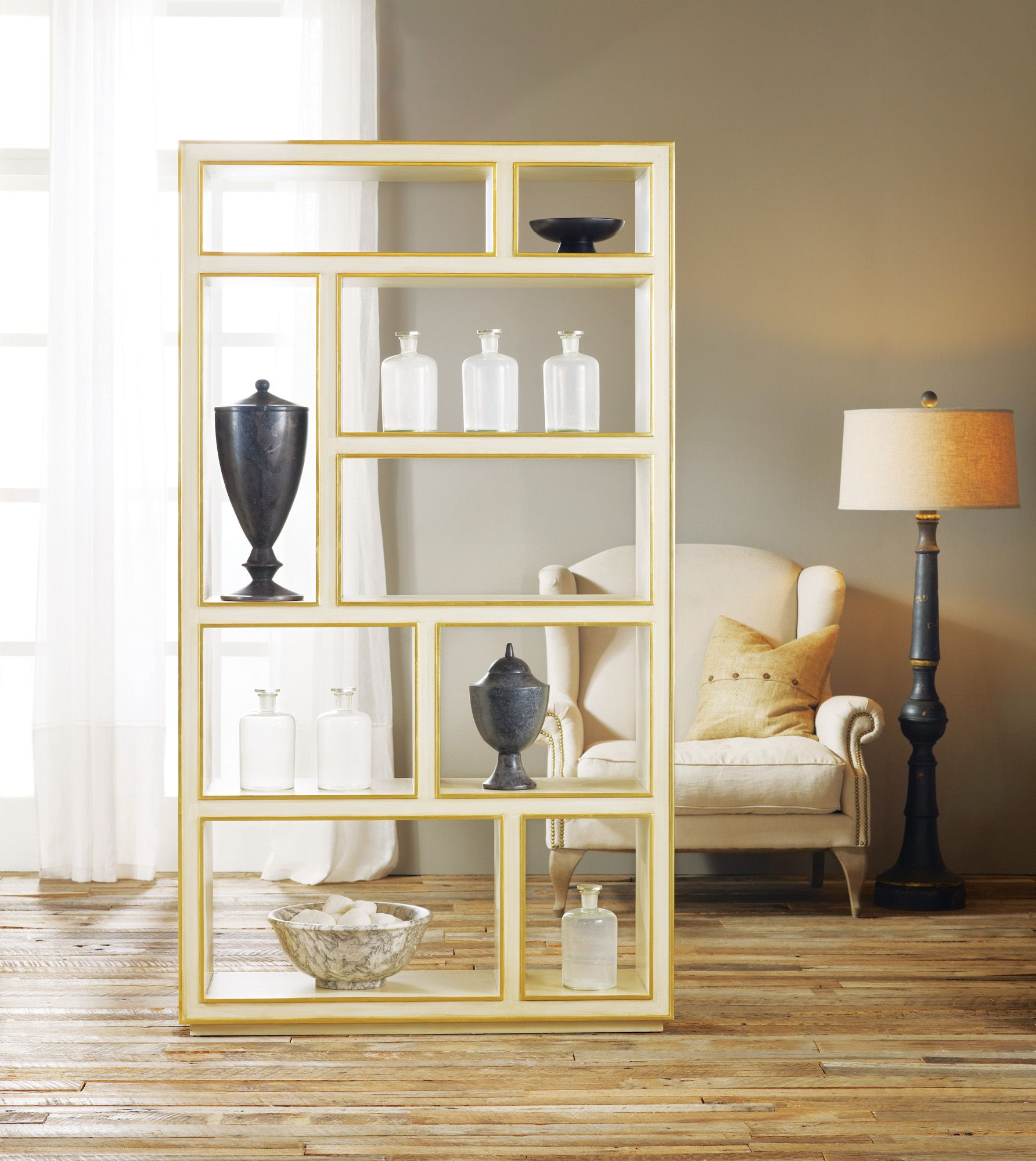 Vertical Abstract Bookcase | Master bedroom | Bookcase
