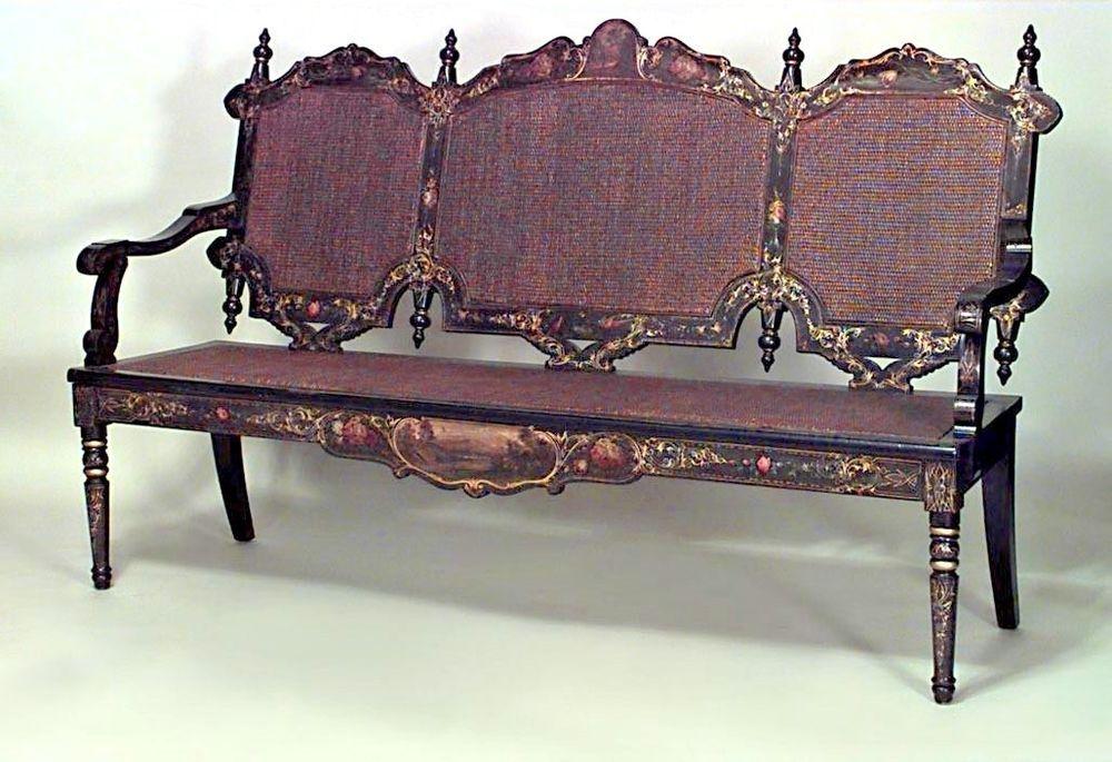 Terrific English Victorian Papier Mache Black Lacquered Gold Machost Co Dining Chair Design Ideas Machostcouk