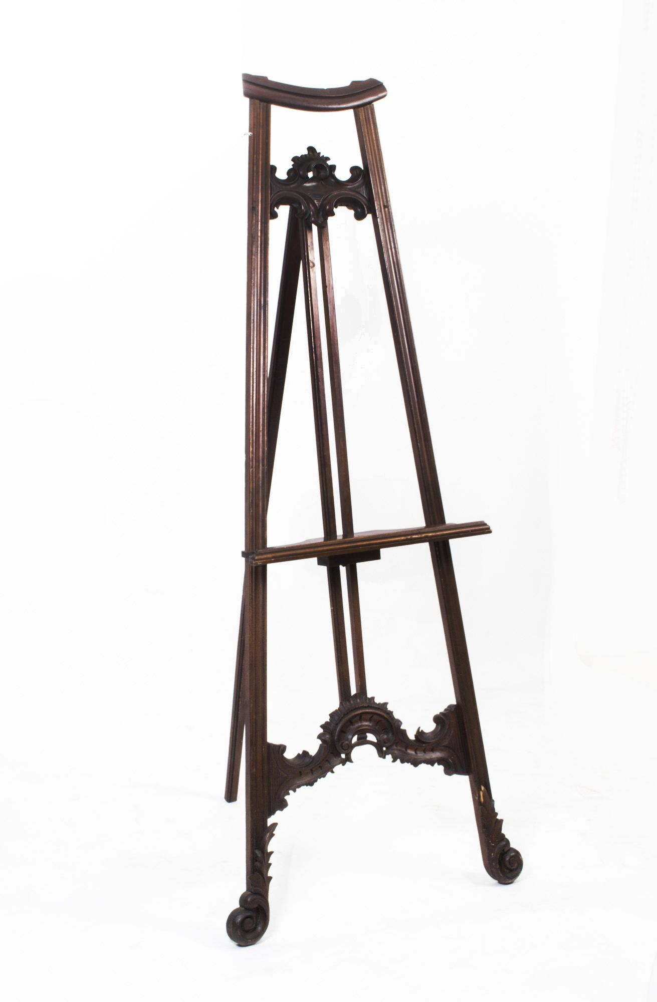 Easels Antique Decorative Mahogany Artists Painting Easel C 1900 Wood