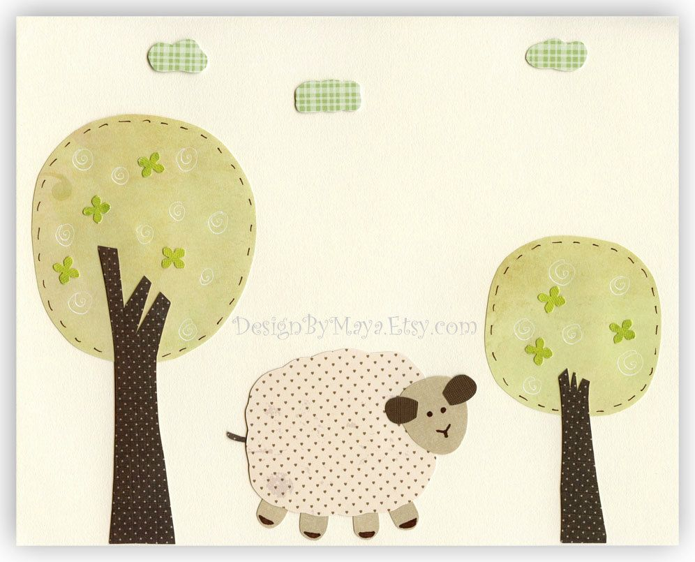Baby Room Decor, Nursery wall Art, lamb, sheep..First we had each ...
