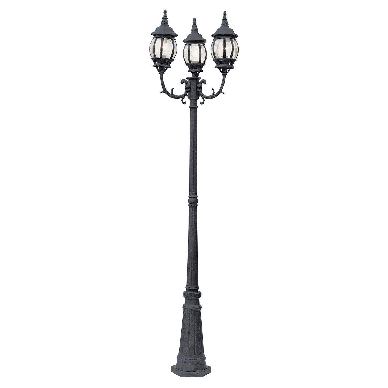 Trans Globe Lighting 4090 Bk Niort 91 High 3 Lantern Lamp Post Outdoor Post Lights Lamp Post Lights Outdoor Lamp Posts