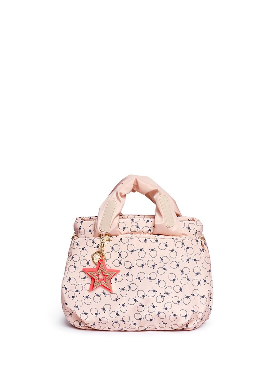SEE BY CHLOÉ - 'Joy Rider' small strawberry print nylon bag | Pink Day Shoulder Bags | Womenswear | Lane Crawford - Shop Designer Brands Online