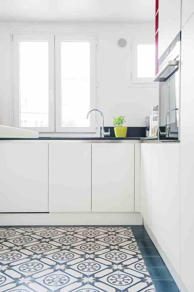 Idées Déco Pour Personnaliser Une Cuisine Blanche Deco Cuisine - Carrelage cuisine motif pour idees de deco de cuisine