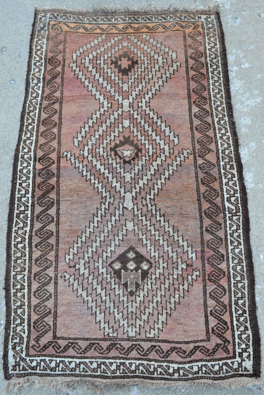 Vintage Tribal Rug 3 1 X 5 3 94 X 161 Cm Tribal Rug Rugs Vintage Rugs