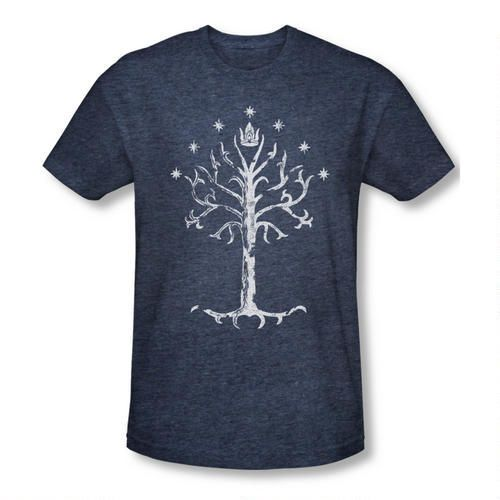 Lor Tree Of Gondor Premium Adult Slim Fit T-Shirt